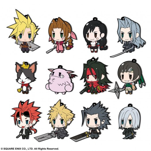Final Fantasy - Rubber Charms FF VII Extended Edition BOX 12 pezzi 7cm (EU)