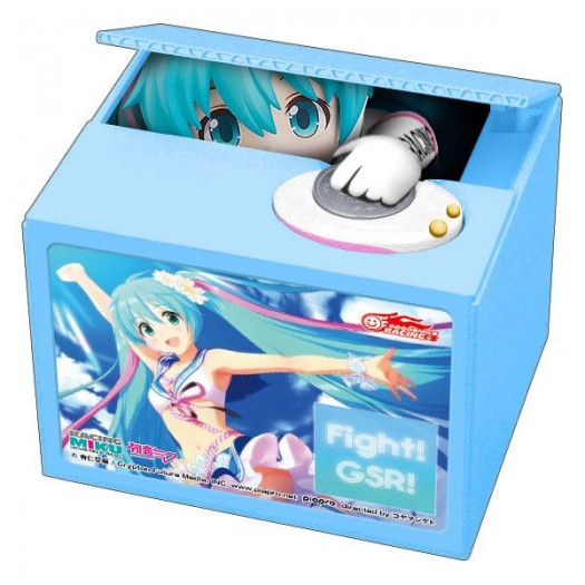 Vocaloid / Hatsune Miku GT Project - Talking Coin Bank Racing Miku 2019 Ver. Chatting Bank 002 12cm