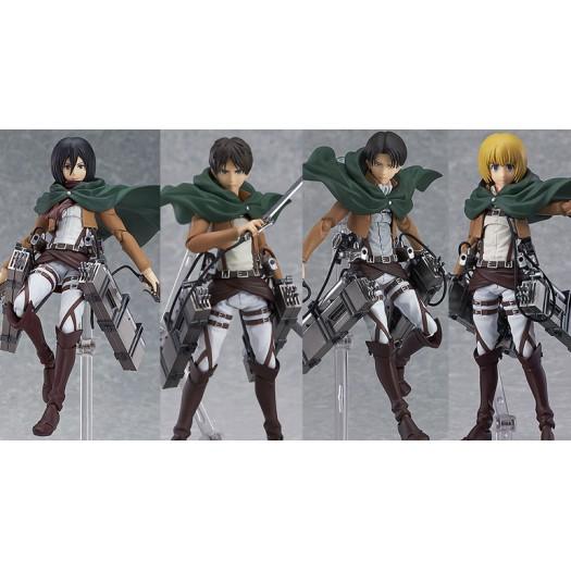 Attack on Titan (Shingeki no Kyojin) - figma Mikasa, Eren, Levi & Armin SET di 4 14,5cm