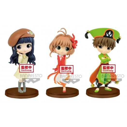Cardcaptor Sakura: Clear Card Arc - Q Posket Petit Tomoyo, Sakura & Syaroan SET 7cm