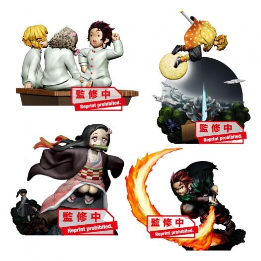 Demon Slayer: Kimetsu no Yaiba - Petitrama Series Vol. 1 BOX 4 pezzi 8cm