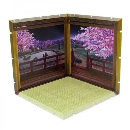Dioramansion 150 Decorative Parts for Nendoroid and Figma Figures Cherry Blossoms at Night 15 x 15cm