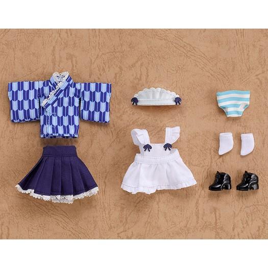 Nendoroid Doll: Clothes Set Japanese Style Maid Snow Color (Blue) (EU)