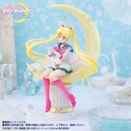 Sailor Moon Eternal The Movie - Figuarts Zero chouette Super Sailor Moon -Bright Moon & Legendary Silver Crystal- 19cm Exclusive