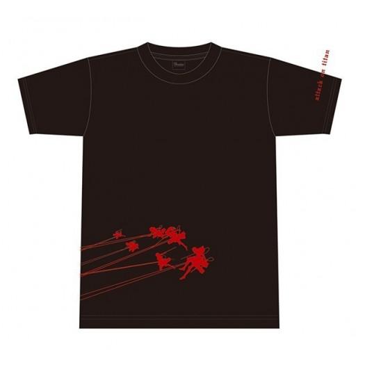 Attack on Titan (Shingeki no Kyojin) - Attack on Titan - T-shirt B Black taglia:  (JP)