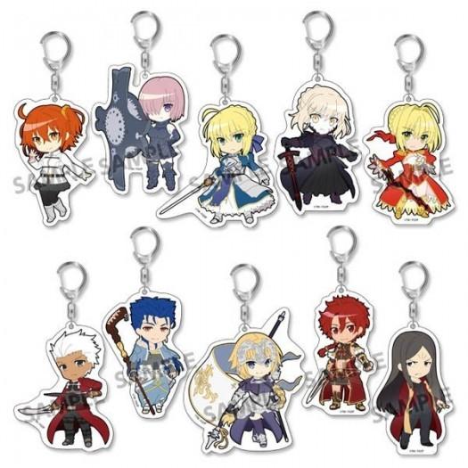 Fate/Grand Order - Pikuriru! Trading Acrylic Key Chain BOX 10 Pezzi 8x5 cm