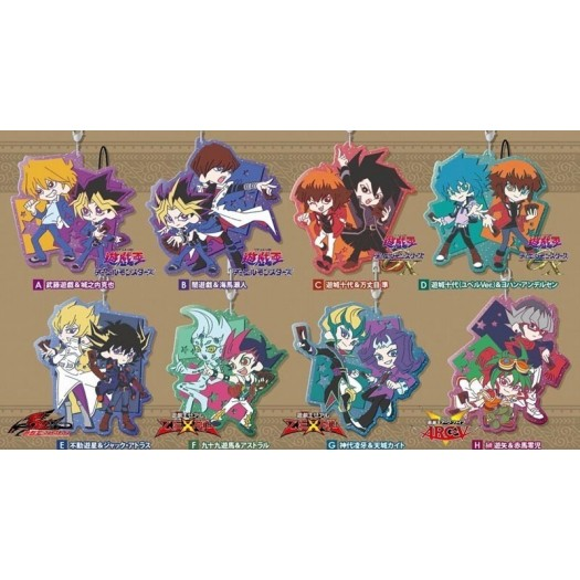 Yu-Gi-Oh! Series - Pair Clear Rubber Strap 7cm -Random Character-