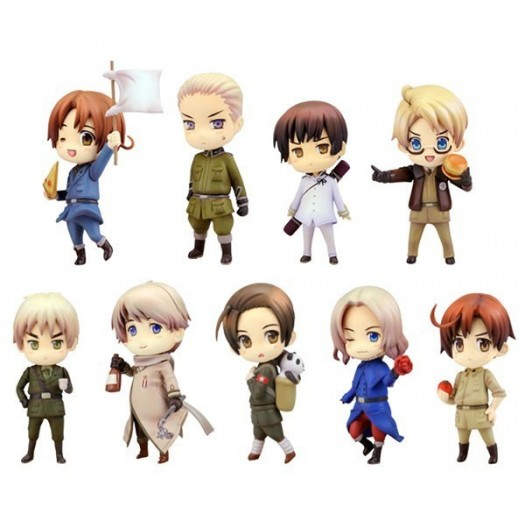 Hetalia Axis Powers - One Coin Grande Figure Collection Renewal Package Edition BOX 9 Pezzi 6cm