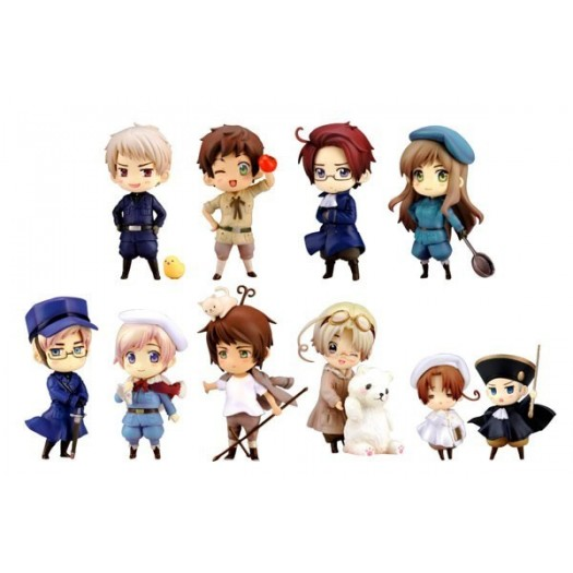 Hetalia Axis Powers - One Coin Grande Figure Collection Vol. 2 Renewal Package Edition -Random Character- 6cm