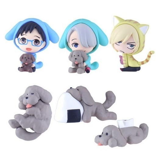 Yuri!!! on Ice - Chara Forme Swing Mascot Collection BOX 6 pezzi 4cm