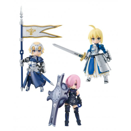 Fate/Grand Order - Desktop Army Jeanne d'Arc / Mash Kyrielight / Saber Artoria Pendragon 8cm