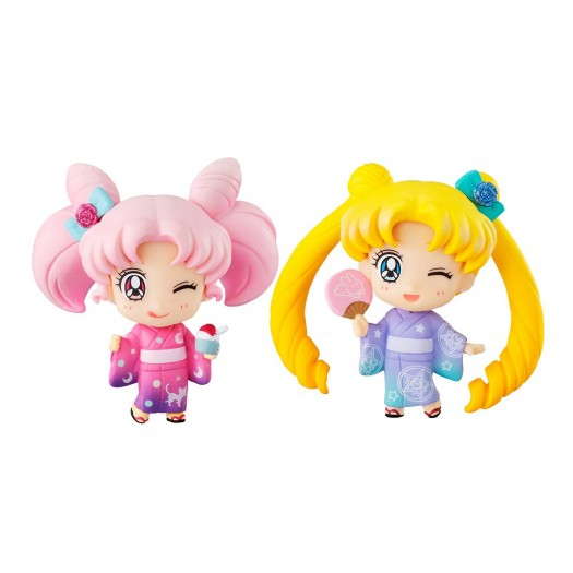 Bishoujo Senshi Sailor Moon - Petit Chara Tsukino Usagi & Chibiusa Kyoto Marubeni ver. 5,5cm Exclusive