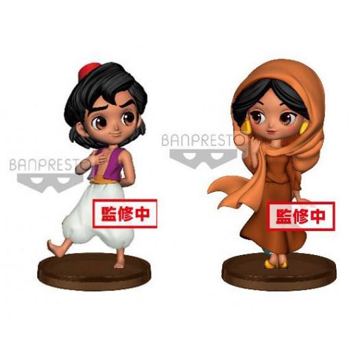 Aladdin - Q Posket Petit Aladdin & Jasmine 7cm