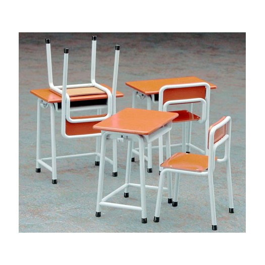 1/12 Posable Figure Accessory - School Desks and Chairs