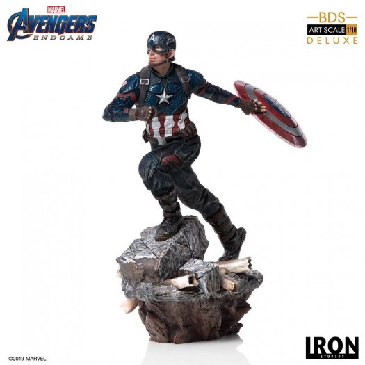 Avengers: Endgame - BDS Art Scale Statue Deluxe Captain America 1/10 21cm